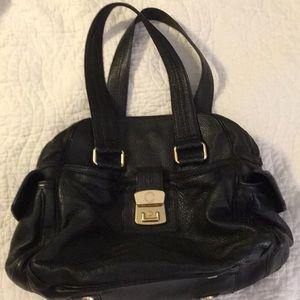 Lrg Mark Jacobs black leather bag. great!!